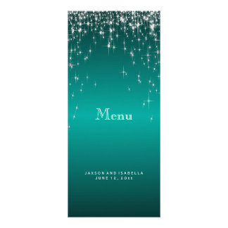 Star Lights in Teal - Menu