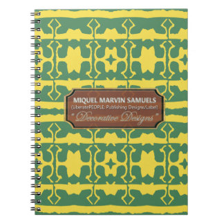 Star Line Decorative Green Yellow Notebook