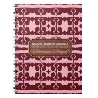 Star Line Decorative Maroon Pink Notebook