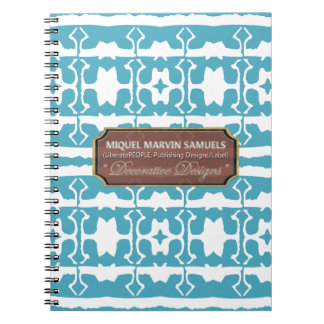 Star Line Decorative  White Baby Blue Notebook