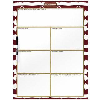 Star Line My Business Dry Erase Large Board