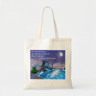Star-Lit Reflections Poetry Budget Tote Bag