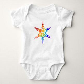 Star logo baby bodysuit