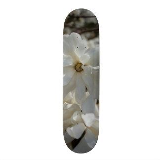 Star Magnolia Blooms Skate Board