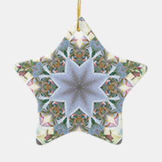 Star Mandala Ordament Ceramic Ornament
