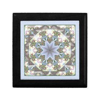 Star Mandala Small Jewelry Box/Lavender Small Square Gift Box