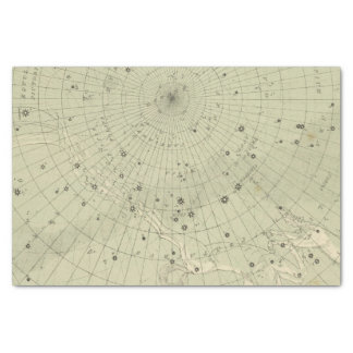 Star map of South polar region Tissue Paper