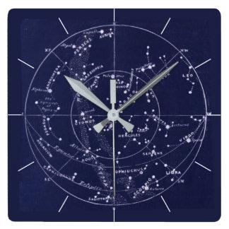 STAR MAP | Vintage deep blue night sky Wall Clock