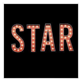 STAR Marquee Lights Poster