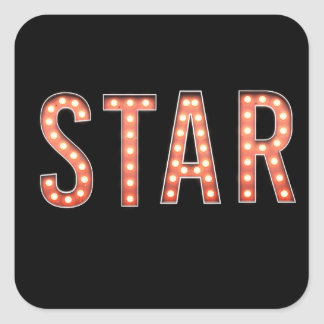 STAR Marquee Lights Square Sticker