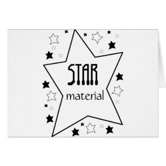 Star Material Stationery Note Card