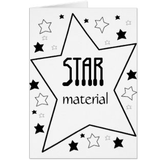 Star Material Note Card
