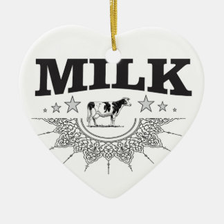 Star milk black cow ceramic ornament