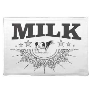 Star milk black cow placemat