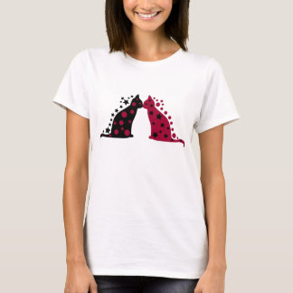 Star & Moon Kissing Cats T-Shirt