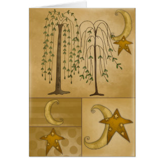 Star, Moon, Weeping Willow All Occasions Card