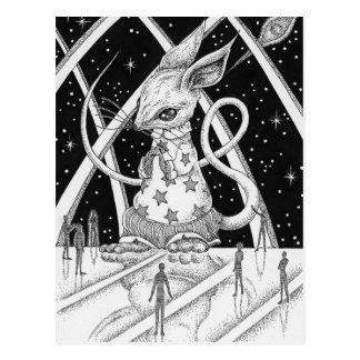 Star mouse postcard