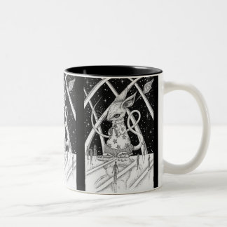 Star mouse Two-Tone coffee mug