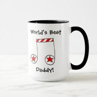 Star Musical Note World's Best Daddy Gift Mug