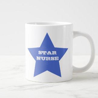 STAR NURSE | Navy Blue Big Star Jumbo Mug