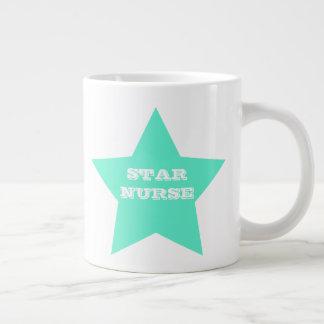 STAR NURSE | Teal Big Star Jumbo Mug