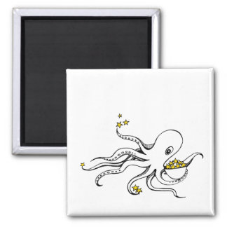 Star Octopus Square Magnet