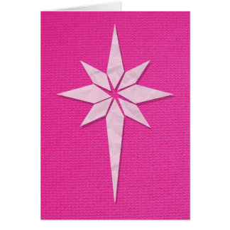 Star of Bethlehem Christmas Card (Pink)