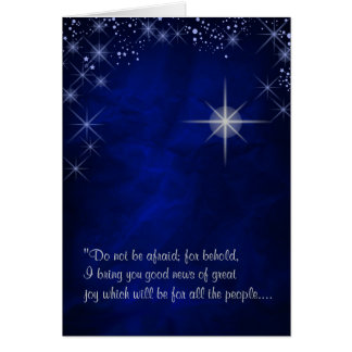 Star of Bethlehem First Christmas Card