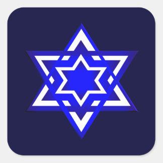 Star of David 3d Square Sticker