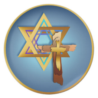 Star Of David and Triple Cross Plate