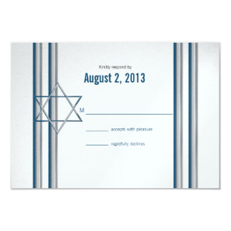 Star of David Bar Mitzvah Card