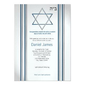 Star of David Bar Mitzvah 5.5x7.5 Paper Invitation Card
