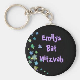 Star of David Black Key Chain Bar Bat Mitzvah Gift