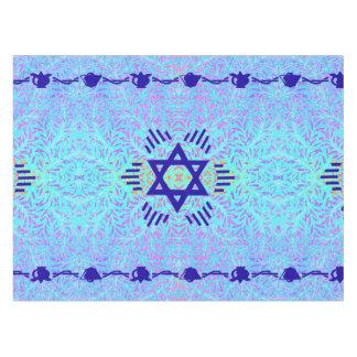 Star of David blue violet Tablecloth