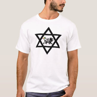 star of David c Lion of Judá T-Shirt