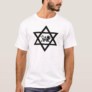 star of David c Lion of Judá T-Shirt