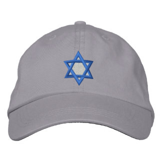 Star Of David Embroidered Hat