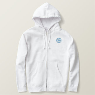 Star of David Embroidered Hoodie