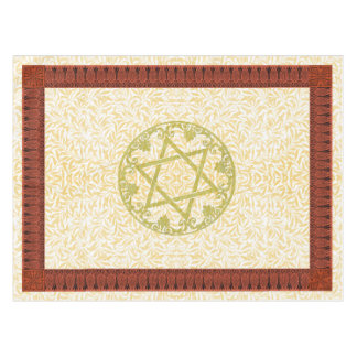 Star of David Flower Border Tablecloth