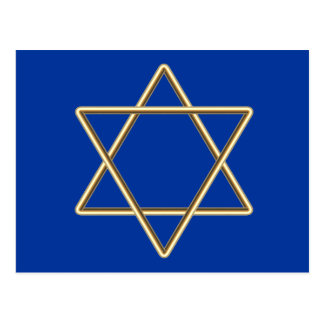 Star of David for Bar Mitzvah or Bat Mitzvah Postcard