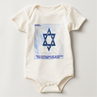 Star Of David & Funny Jewish Proverb Gifts & Cards Baby Bodysuit