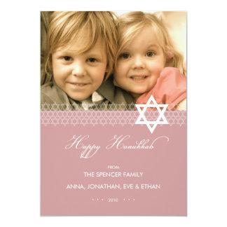 Star of David Hanukkah Photo Flat Card 13 Cm X 18 Cm Invitation Card
