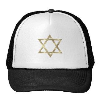 Star of David in shiny gold Cap