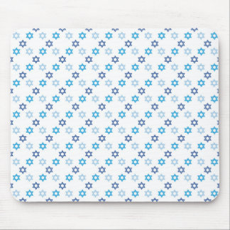 Star of David Jewish Blue and White Mouse Pad