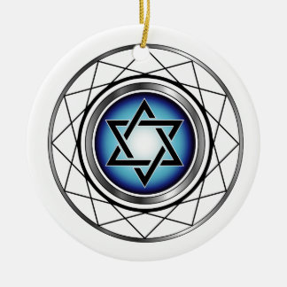 Star of David- Jewish religious symbol Ceramic Ornament