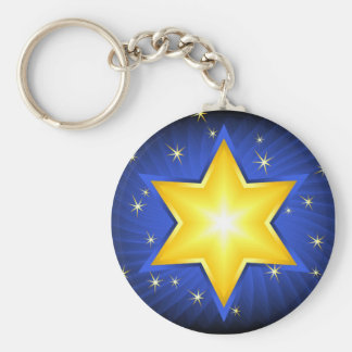 Star Of David Key Ring