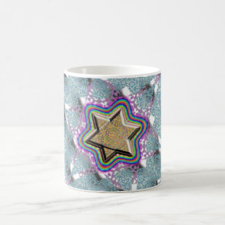 Star of David Lace Background Coffee Mug