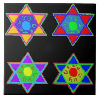 Star of David Large Square Tile