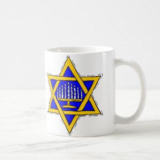 Star of David & Menorah Coffee Mug