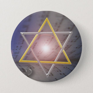 Star of David Menorah  Judaism Button